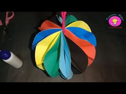 DIY : Paper Crafts for Kids | Beautiful wall hangings decor idea | by Awesome Maker 5-Minute Crafts