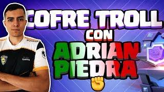 ADRIAN PIEDRA TIENE QUE JUGAR EL PEOR MAZO POSIBLE | El Cofre Troll | Clash Royale