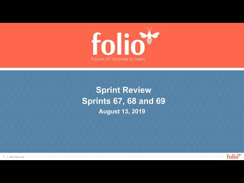 FOLIO Sprint Review 67-68-69