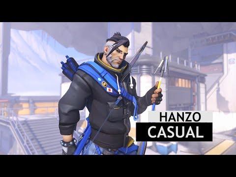 Overwatch: Casual Hanzo Legendary Skin InGame Winter Wonderland 2017