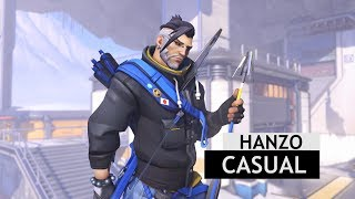 Overwatch: Casual Hanzo Legendary Skin In-Game [Winter Wonderland 2017]
