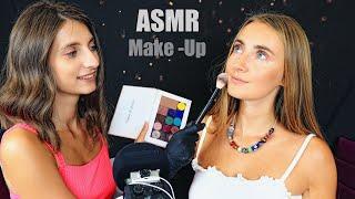 ASMR MAKEUP Artist my SISTER does my Make Up АСМР СЕСТРА визажист ДЕЛАЕТ МНЕ МАКИЯЖ