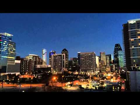 Dallas Texas Skyline Time Lapse Video