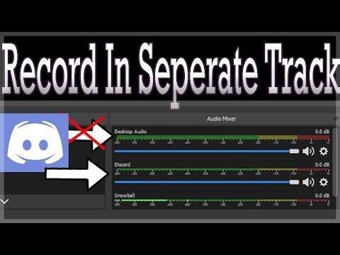 How To Split Audio Tracks In OBS Studio (Discord/Skype/TeamSpeak/Game)