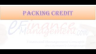 Packing Credit