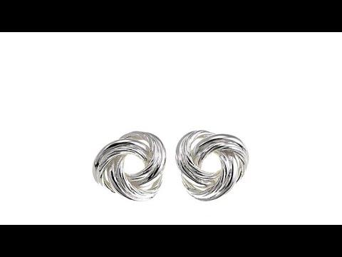 Sevilla Silver Love Knot Stud Earrings