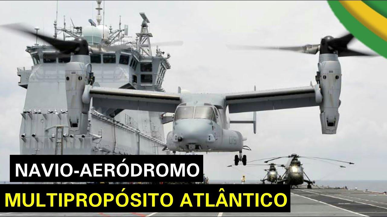 Porta-helicóptero Atlântico da Marinha agora é Porta-Aviões