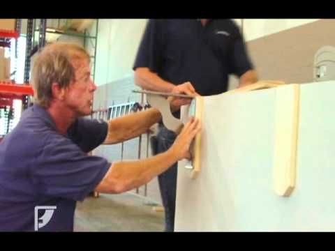 Federal Brace  Halfwall countertop bar installation with