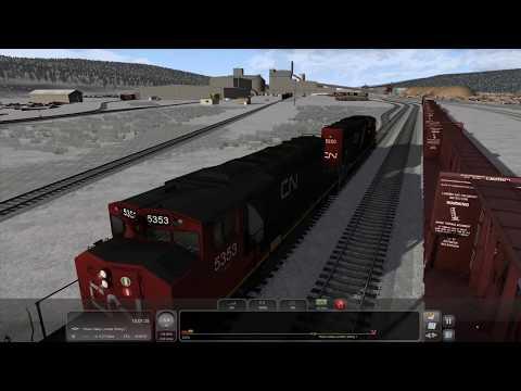 Train Simulator 2018 - [EMD SD40-2W] - CN Daishowa Sub Southbound [GWD369] - 4K UHD