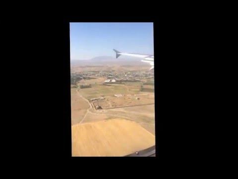 Ереван. Армения. Посадка в аэропорту Звартноц