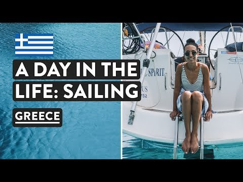 LIFE ON A YACHT VLOG - Our Routine Sailing Greece 🇬🇷   Med Experience Days 5+