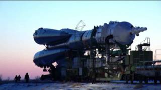 Expedition 30 Soyuz Spacecraft Integration and Rocket Roll Out to the Launch Pad