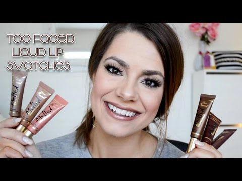 *NEW* TOO FACED MELTED CHOCOLATE LIQUID LIPSTICKS   Swatches