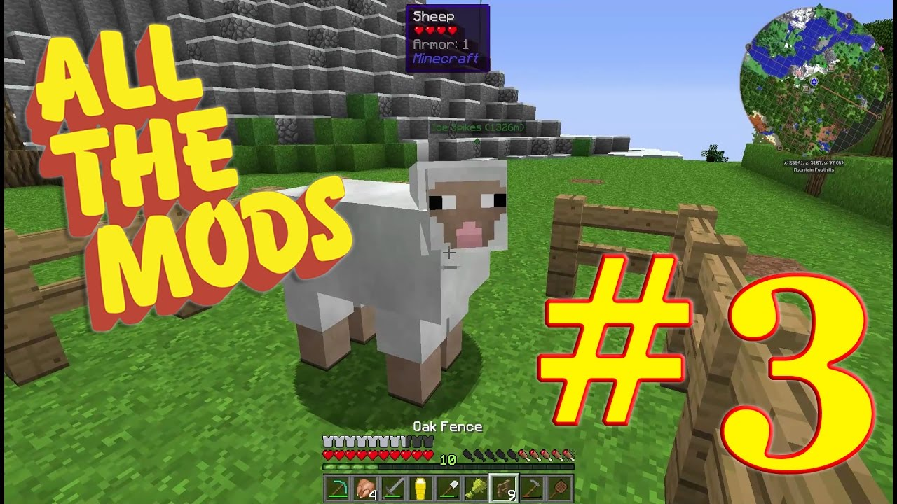 Minecraft : All The Mods 1 10 2 : #3 - Get in There, You Stupid Sheep!
