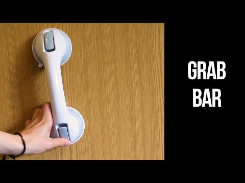 Suction Cup Grab Bar | How to use and review