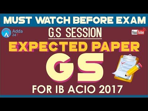 Expected Paper For IB ACIO 2017   General Studies   Online Coaching For IB ACIO