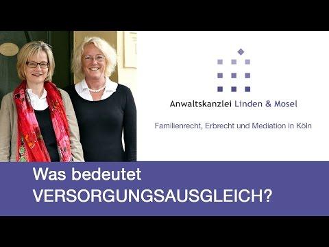Was bedeutet der Versorgungsausgleich? RA Dorothée Linden