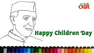 how to draw jawaharlal nehru ? Very easy # चाचा नेहरू