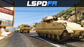 GTA 5 LSPDFR ONLINE - Army Patrol Escort  Convoy Mission Multiplayer [With Mods]