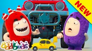 Novos   Fuse E Jeff Brincam Com Carro De Brinquedo   Um Episódio Do Dia Dos Pais   Oddbods Brasil