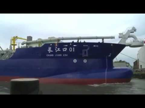 Naming and launch ceremony for CHANG JIANG KOU 01 at IHC Merwede Kinderdijk