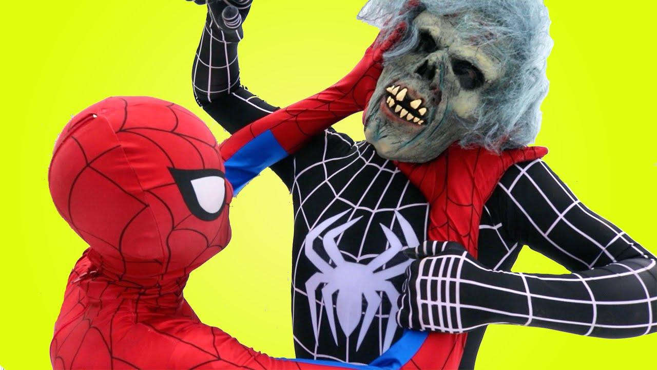 Человек Паук и Бетмен Спасают Эльзу Frozen от Зомби в ...