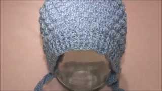 Как связать шапочку -  чепчик для ребенка от 5 до 8 месяцев ( крючком)