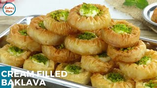Cream Filled Baklava Recipe by Cooking Mate