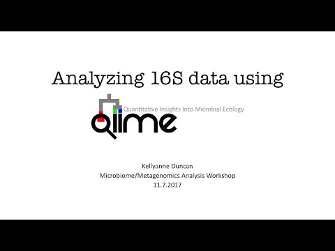 Microbiome/Metagenome Analysis Workshop: QIIME - YouTube