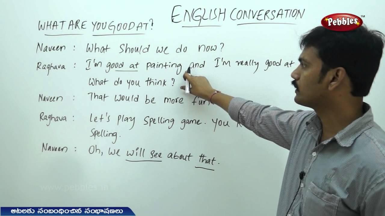 Spoken Telugu Thro' English - Games Conversation