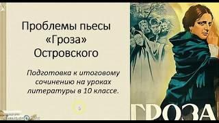 проблематика пьесы А.Н. Островского
