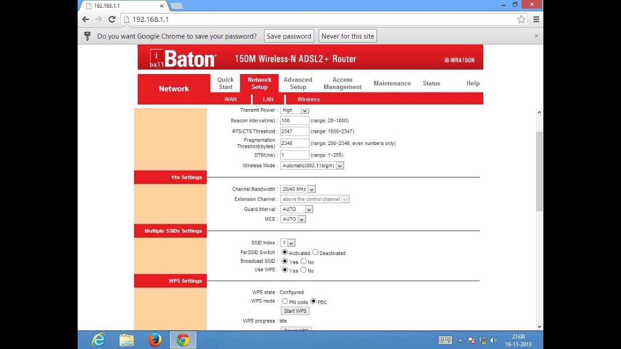 I Ball Baton 150 M Wireless N Router Modem Wifi