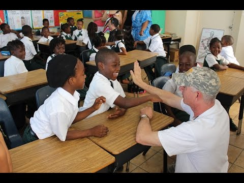 Visiting the Children of the Roker Point Primary School in the Bahamas