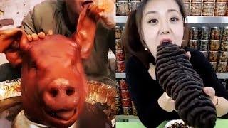 Really Bizarre Weird Food Mukbang - ASMR Compilation