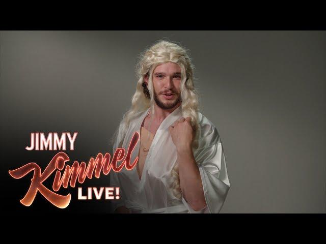 Kit Harington parodia las audiciones de Juego de Tronos