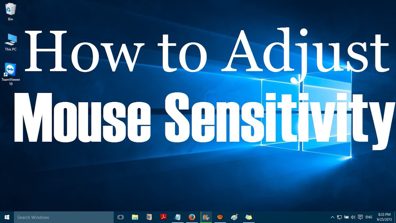How to Change Mouse Sensitivity: Improved Performance - Game