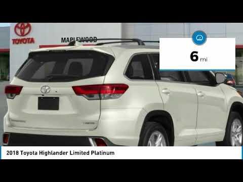 2018 Toyota Highlander Limited Platinum Maplewood, St Paul, Minneapolis, Brooklyn Park, MN J12967