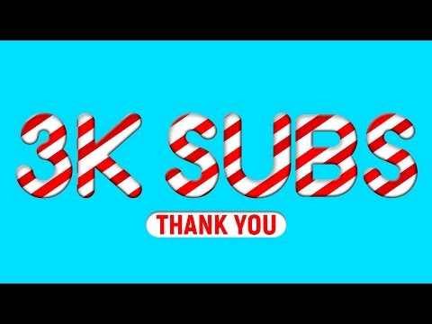 Candy Text Effect In Photoshop Tutorial, Cheers to 3,000 SUBSCRIBERS thumbnail