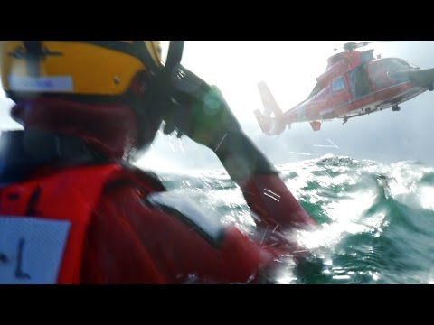 Rescue Survivor Qualification - U.S. Coast Guard - MH65 Heli