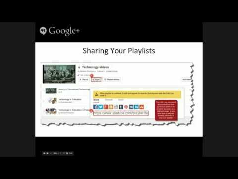 Edu on Air: Creating and using YouTube playlists