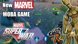 NEW MARVEL MOBA Game - Marvel Super War First Look!!