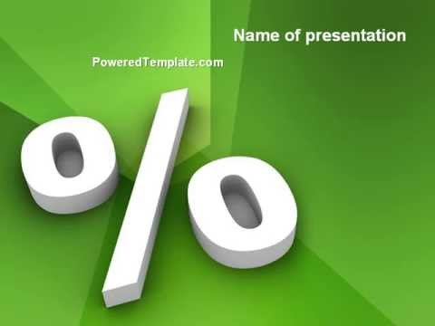 Percent Sign PowerPoint Template by PoweredTemplate.com