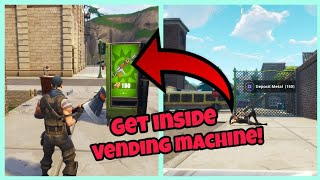 Fortnite Glitches Season 5 (New) Get Inside The Vending Machine PS4/Xbox one 2018