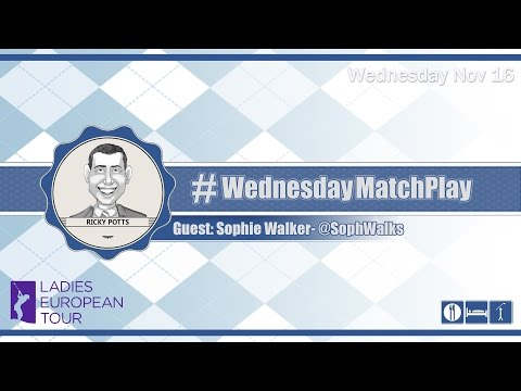 #WednesdayMatchPlay with Sophie Walker from the Ladies European Tour