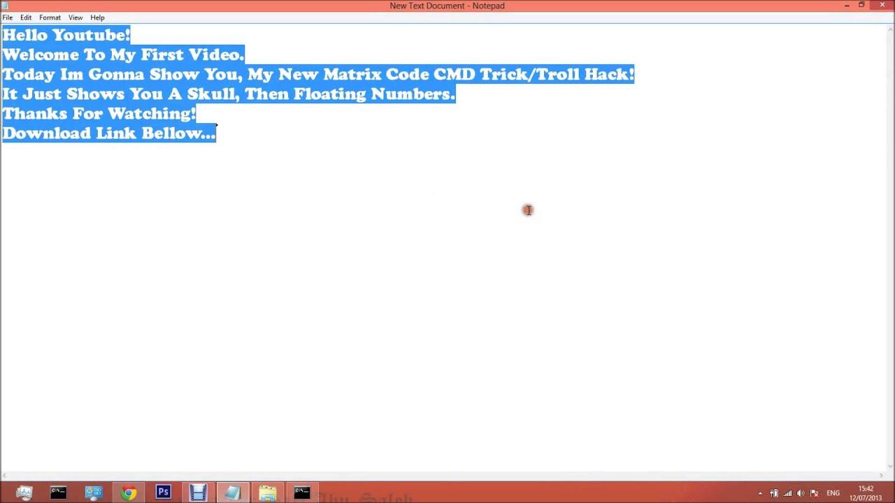 New Matrix CMD Hack Code Troll/Trick *2013*