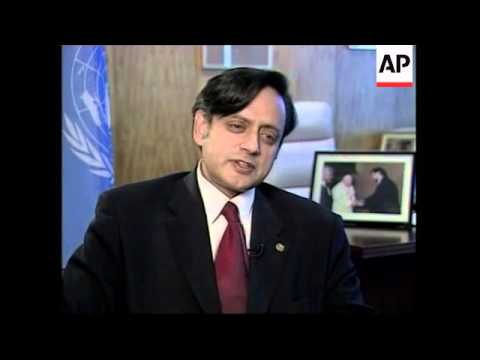 Interview with Sashi Tharoor, possible successor to Kofi Annan