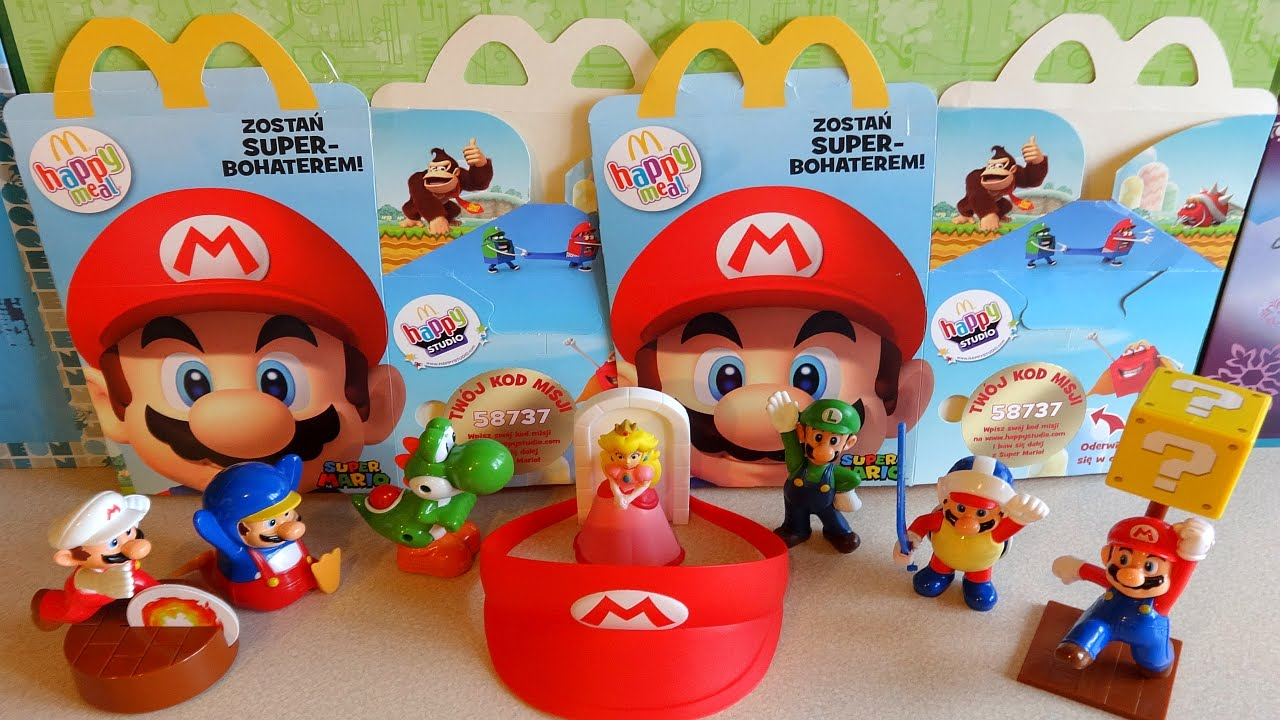 2015 Super Mario Toys Complete Set In Happy Meal Mcdonalds Europe Unboxing You