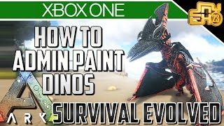 ARK XBOX ONE - HOW TO PAINT YOUR DINOS - ADMIN PAINT COMMANDS!