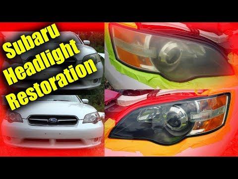 Subaru Headlight Restoration