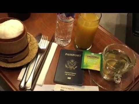 Cathay Pacific Business Class on B777-300ER from Manila to Hong Kong